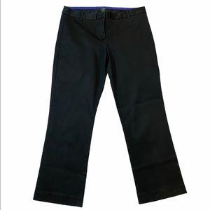 J. Crew City Fit Black Flat Front Cropped Pants